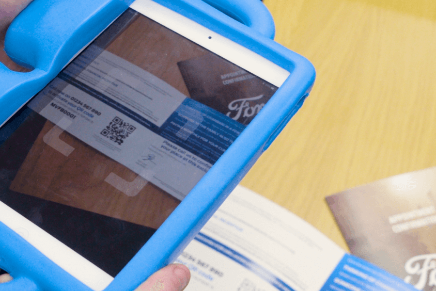 QR Code Event with iPad in use