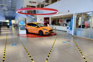 COVID secure car dealership